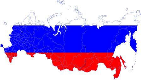 map color 4000px russia with crimea and sevastopol